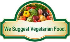 We suggest vegetarian food